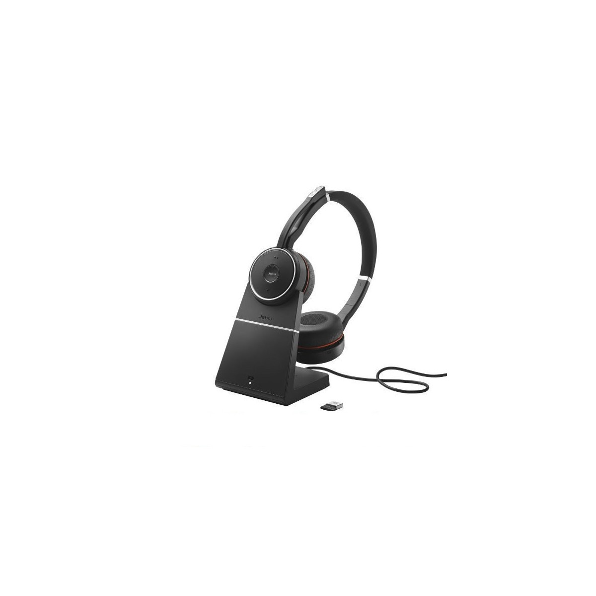 Jabra evolve  75 MS con base di ricarica con Nano Dongle 370 USB